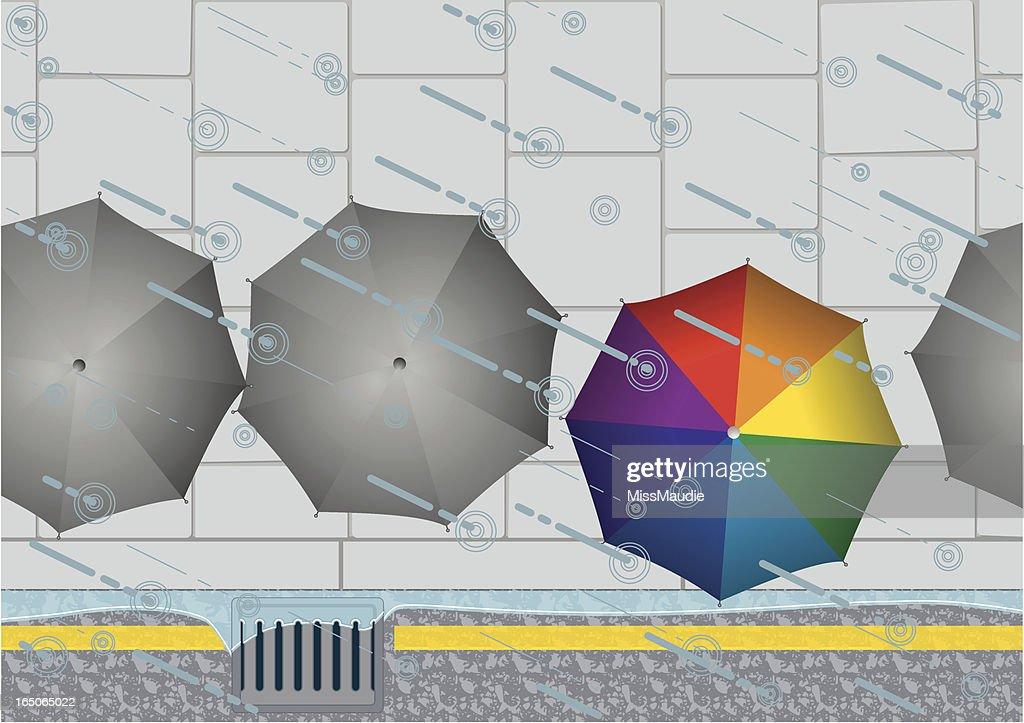 Rain Drain and Umbrellas!