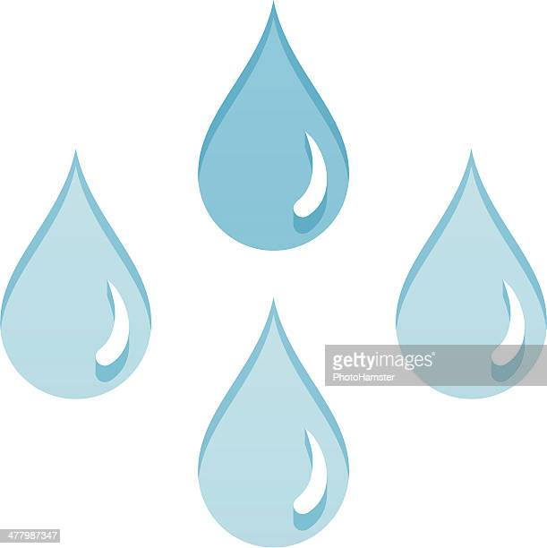 rain drops - water cycle stock illustrations, clip art, cartoons, & icons
