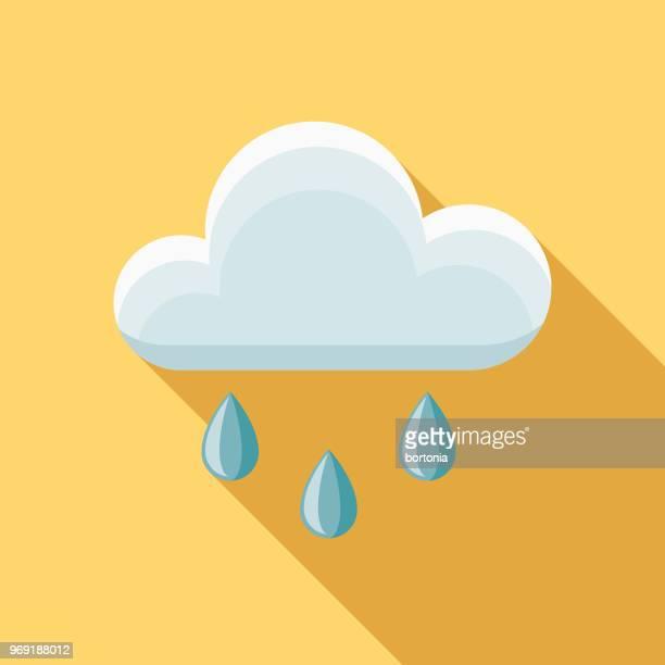 Rain Flat Design Springtime Icon