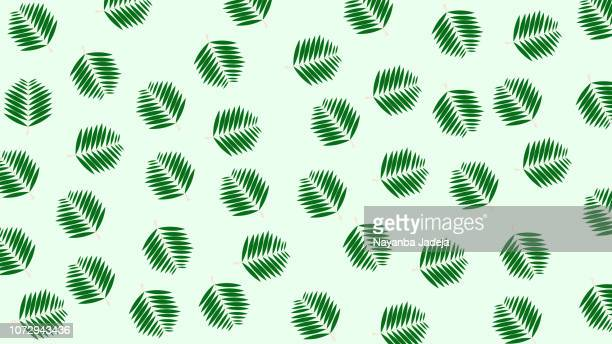 rain forest palm tree leaves abstract pattern, tropical leaf - hawaiian shirt stock illustrations