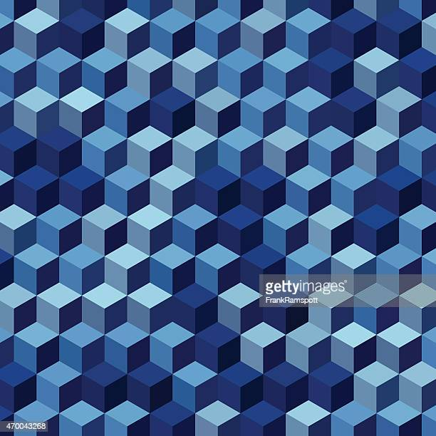 Rain Geometric Cube Hexagon Pattern