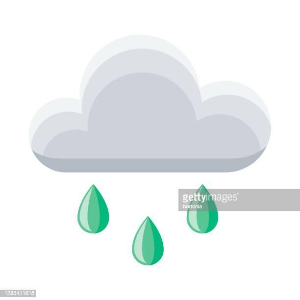 regensymbol auf transparentem hintergrund - bedeckter himmel stock-grafiken, -clipart, -cartoons und -symbole