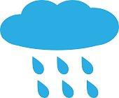 rain, rainy on white background. rainy sign.