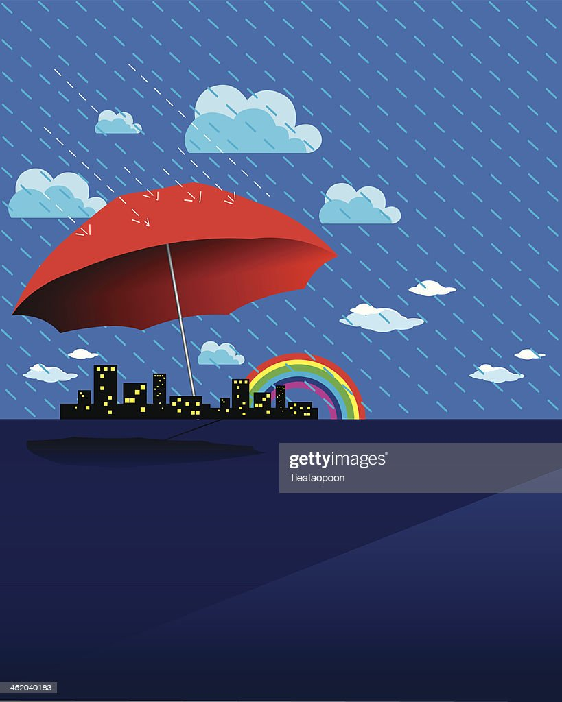 Rain Season background vector