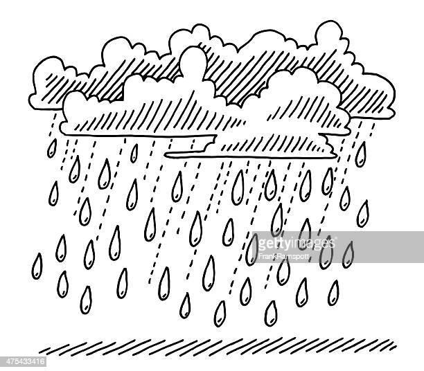 Rain Shower Clouds Drawing