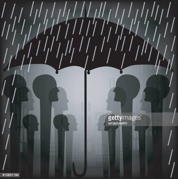rain shower - power outage stock illustrations, clip art, cartoons, & icons