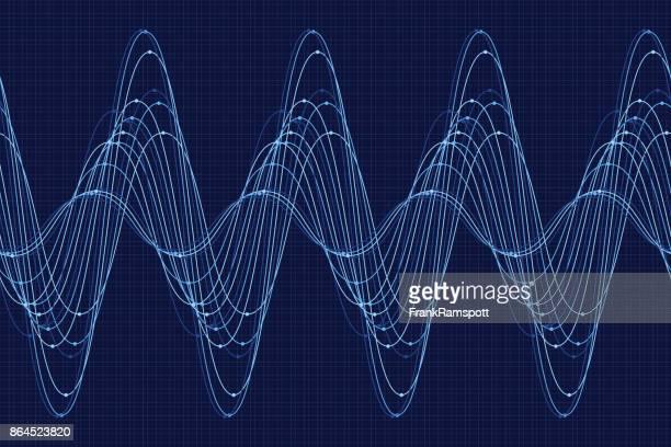 ilustrações, clipart, desenhos animados e ícones de chuva da onda de seno linha padrão horizontal - oscilação curvada