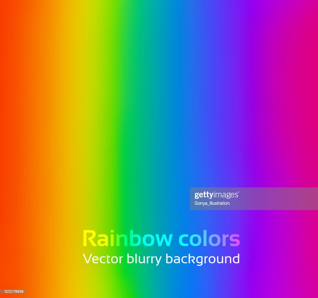 Rainbow blurred background.