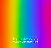 Rainbow blurred background.