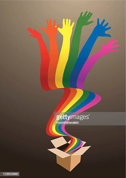 rainbow box - emitting stock illustrations, clip art, cartoons, & icons