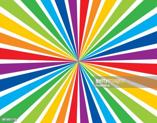 rainbow burst background - rainbow stock illustrations, clip art, cartoons, & icons