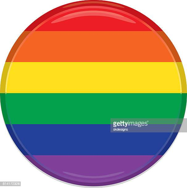 rainbow button, icon classic design - marriage equality stock illustrations, clip art, cartoons, & icons