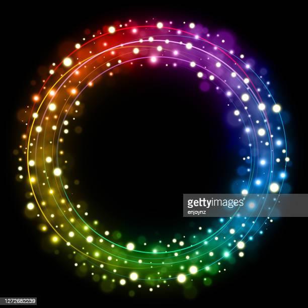 レインボークリスマスサークルベクトルイラスト - lgbtプライド月間点のイラスト素材/クリップアート素材/マンガ素材/アイコン素材