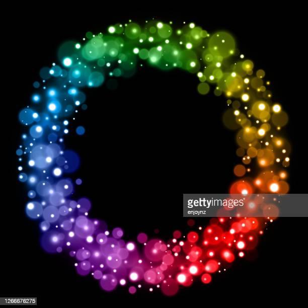 レインボークリスマス妖精のライトサークルデザイン - lgbtプライド月間点のイラスト素材/クリップアート素材/マンガ素材/アイコン素材