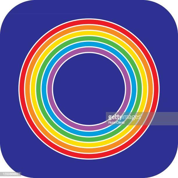 レインボーサークルアイコン - 結婚の平等点のイラスト素材/クリップアート素材/マンガ素材/アイコン素材