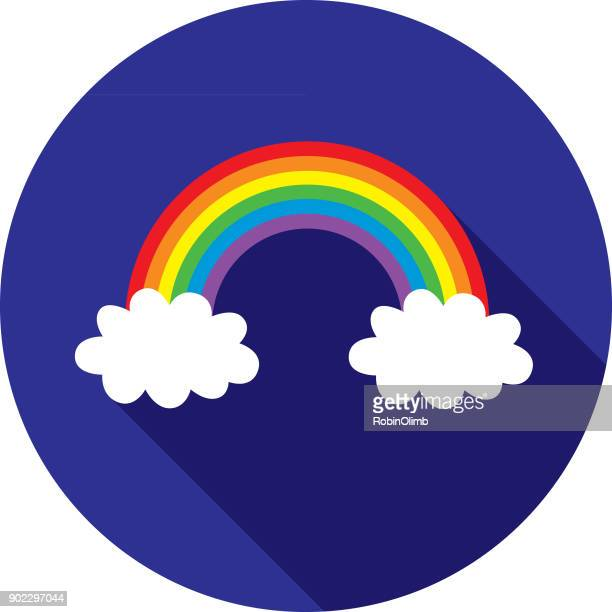 rainbow cloud icon - marriage equality stock illustrations, clip art, cartoons, & icons