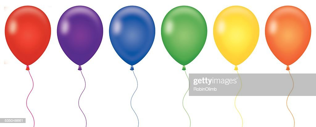 Rainbow Color Balloons
