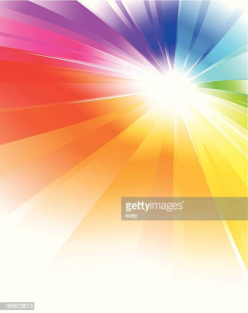 Rainbow Color Radial Background