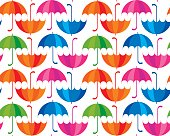 rainbow color umbrella icon flat. cute rain drop colorful seamle