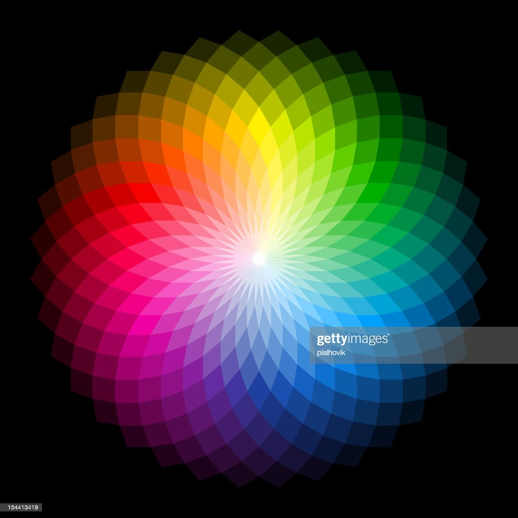 Rainbow colored abstract flower image