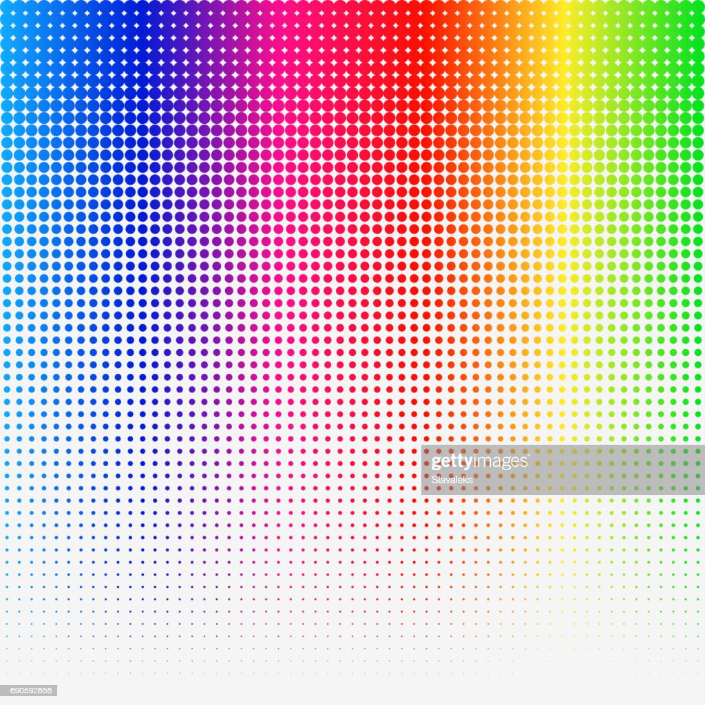 Rainbow colored Halftone abstract Template