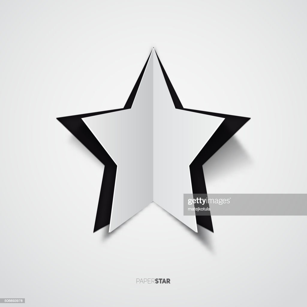 Rainbow colored vector paper cut Star