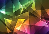 rainbow crystal abstract background