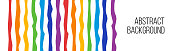 rainbow curved lines, wide abstract background