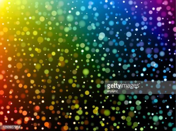 虹のドットの背景 - lgbtプライド月間点のイラスト素材/クリップアート素材/マンガ素材/アイコン素材