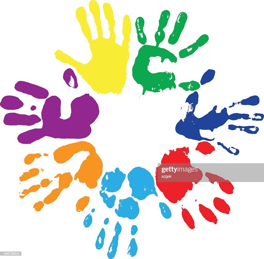 rainbow fingerprints