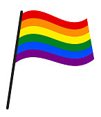 Rainbow Flag Commonly Known As Gay Pride Flag or LGBT Pride Flag (Lesbian, Gay, Bisexual & Transgender)