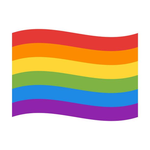 rainbow flag - rainbow stock illustrations