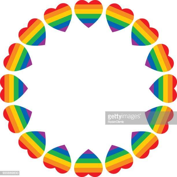 Rainbow Heart Frame
