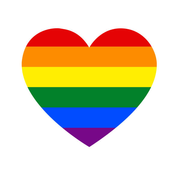 rainbow heartshape - rainbow stock illustrations