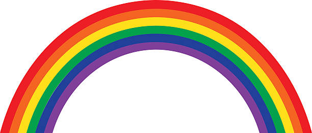 rainbow illustration, classic design - rainbow stock illustrations