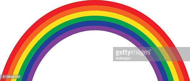 rainbow illustration, classic design - rainbow stock illustrations, clip art, cartoons, & icons