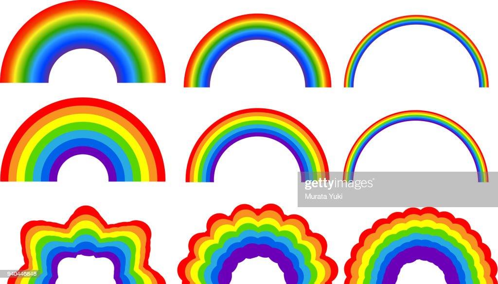 Rainbow illustration set