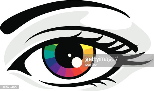 Color Wheel With Graduation To White Vector Art