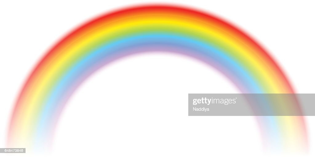 Rainbow isolated on white. Vector illustration.