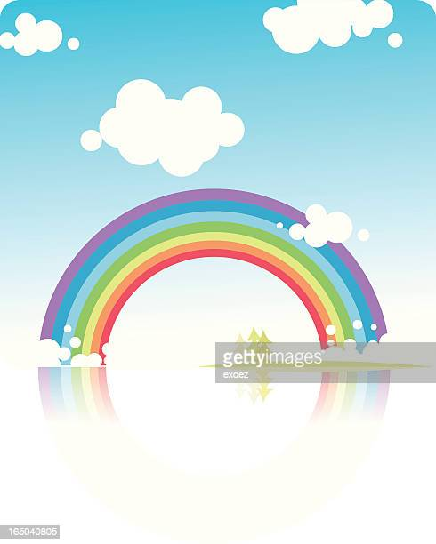rainbow natural design. - overcast stock illustrations, clip art, cartoons, & icons