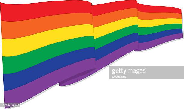 rainbow or pride flag - marriage equality stock illustrations, clip art, cartoons, & icons