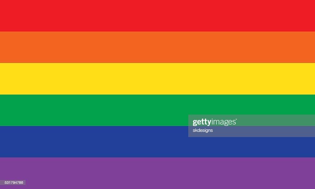 レインボーまたはプライド国旗 : ストックイラストレーション