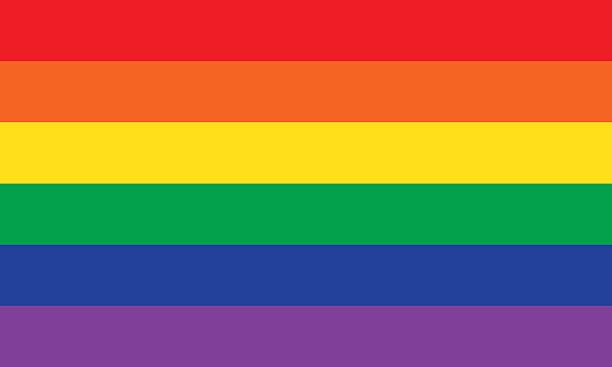 rainbow or pride flag - rainbow stock illustrations
