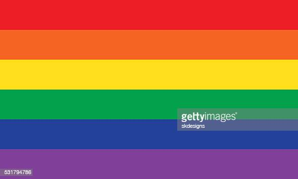 rainbow or pride flag - flag stock illustrations