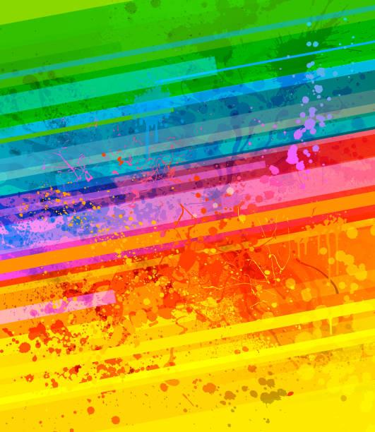 rainbow paint splash background - rainbow stock illustrations