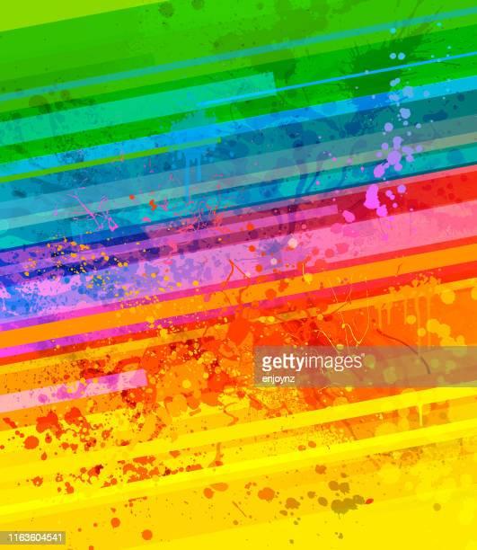 regenbogen farbe spritzer hintergrund - bunter hintergrund stock-grafiken, -clipart, -cartoons und -symbole