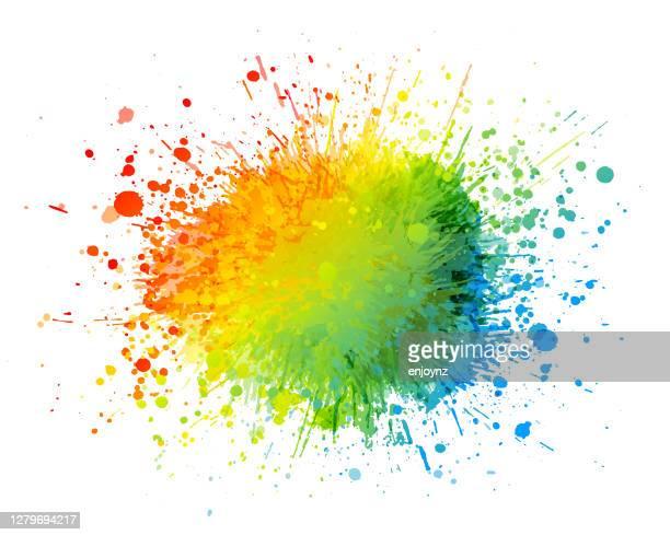 regenbogen farbe spritzer hintergrund - streetart stock-grafiken, -clipart, -cartoons und -symbole