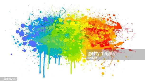 虹のペイントスプラッシュ背景 - lgbtqiプライドイベント点のイラスト素材/クリップアート素材/マンガ素材/アイコン素材