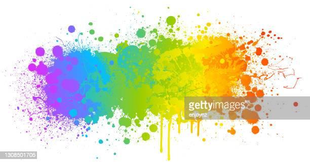 虹のペイントスプラッシュ背景 - lgbtプライド月間点のイラスト素材/クリップアート素材/マンガ素材/アイコン素材