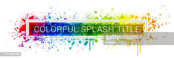 rainbow paint splash frame - equality stock illustrations